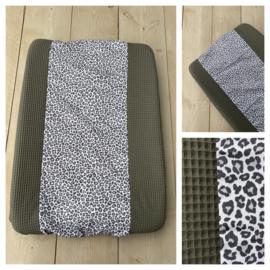 Aankleedkussen hoes - Army / Leopard Grey