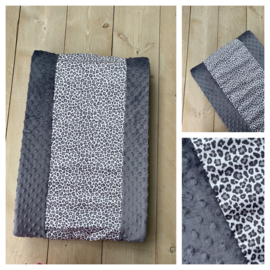 Aankleedkussen hoes - Donker Grijs / Leopard Grey