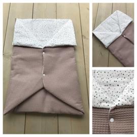 Multi deken - Oud roze / Dotties