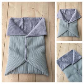 Multi deken - Sapphire Groen / Licht Grijs