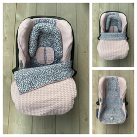 Maxi Cosi set - Dusty Salmon / Leopard Grey - Cabrio Fix