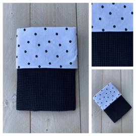 Dekentje - Zwart / Dots