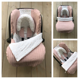 Maxi Cosi set - Dusty Salmon / Dotties Rose Goud - Cabrio Fix