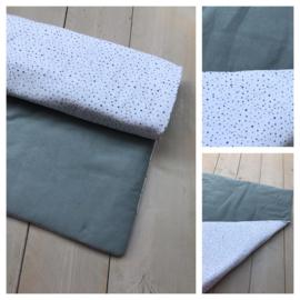 Boxkleed - Knitted Sapphire Groen / Dotties