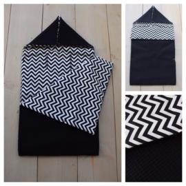 Voetenzak Zwart / Zigzag
