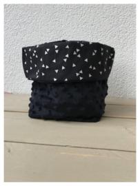 Commode mandje - Zwart / Driehoekjes