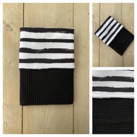Dekentje - Zwart / Stripes