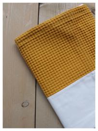 Lakentje - Oker geel / Wit
