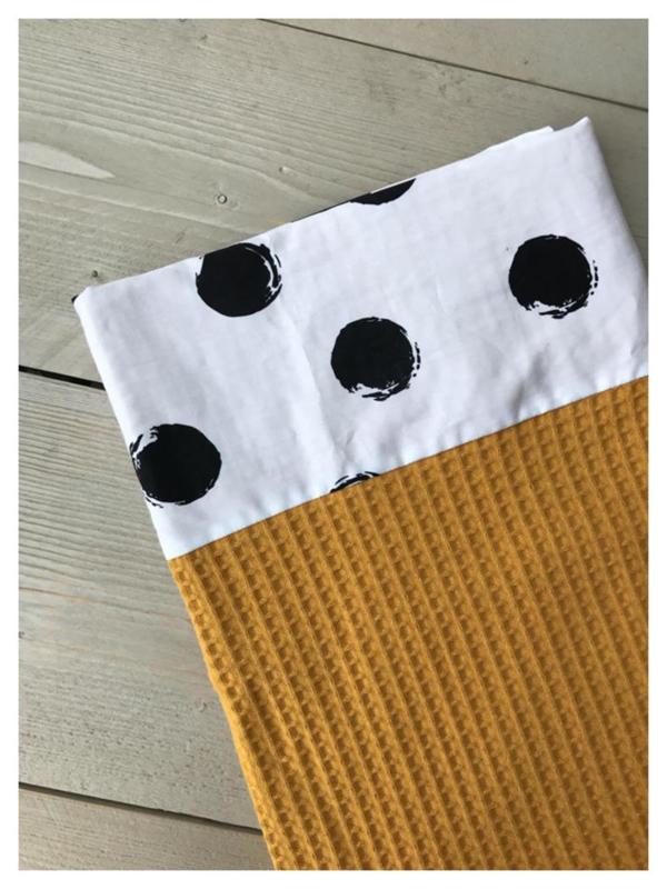 Lakentje - Oker Geel / Big Dots