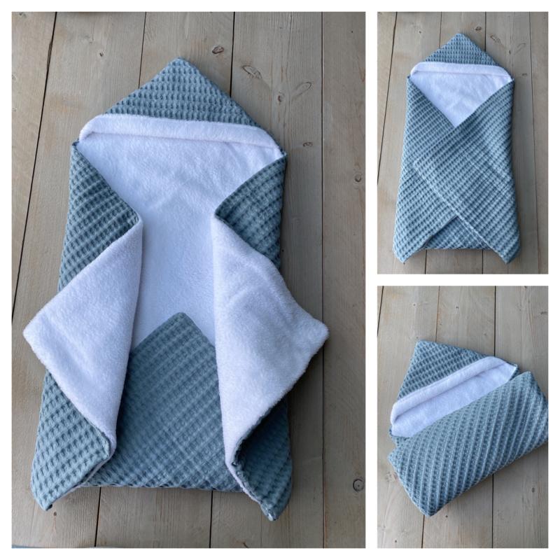 Wikkeldeken - Sapphire Groen / Cuddle Fleece Wit