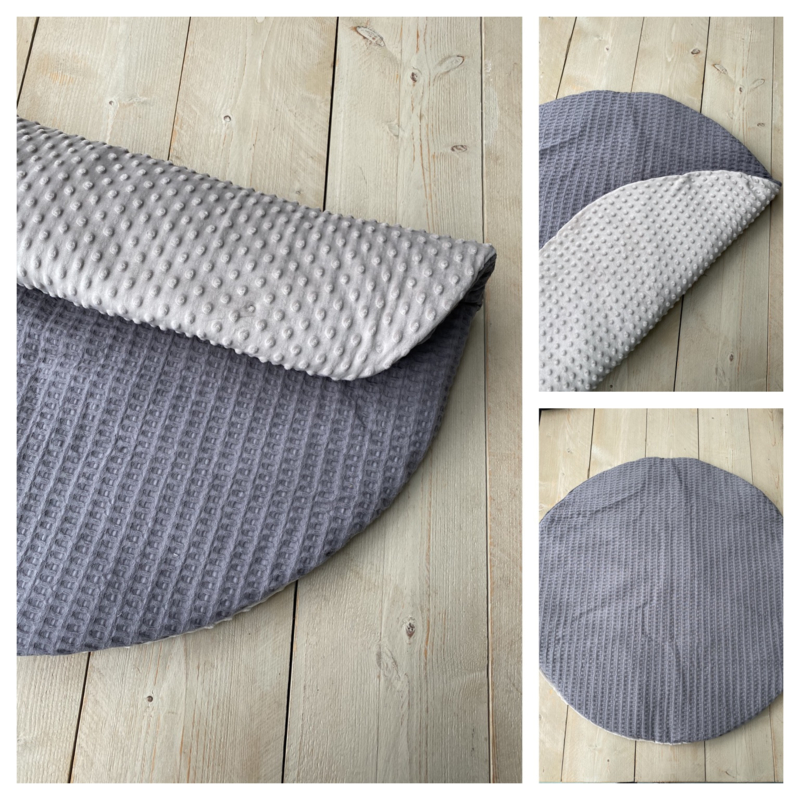 Boxkleed  Rond - Soft Donker Grijs / Taupe