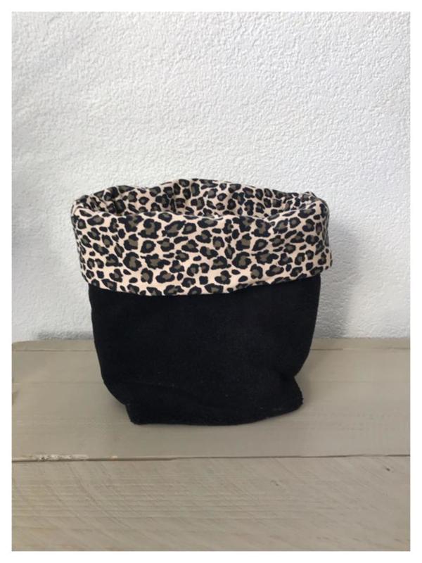 Commode mandje - Leopard / Zwart