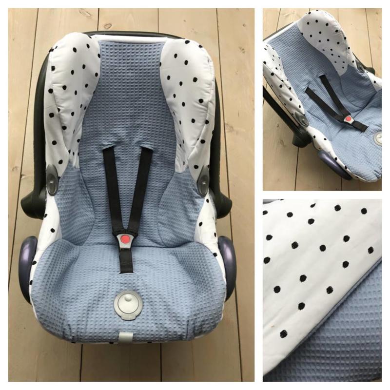 Hoes Cabrio Fix - Oud Blauw / Dots