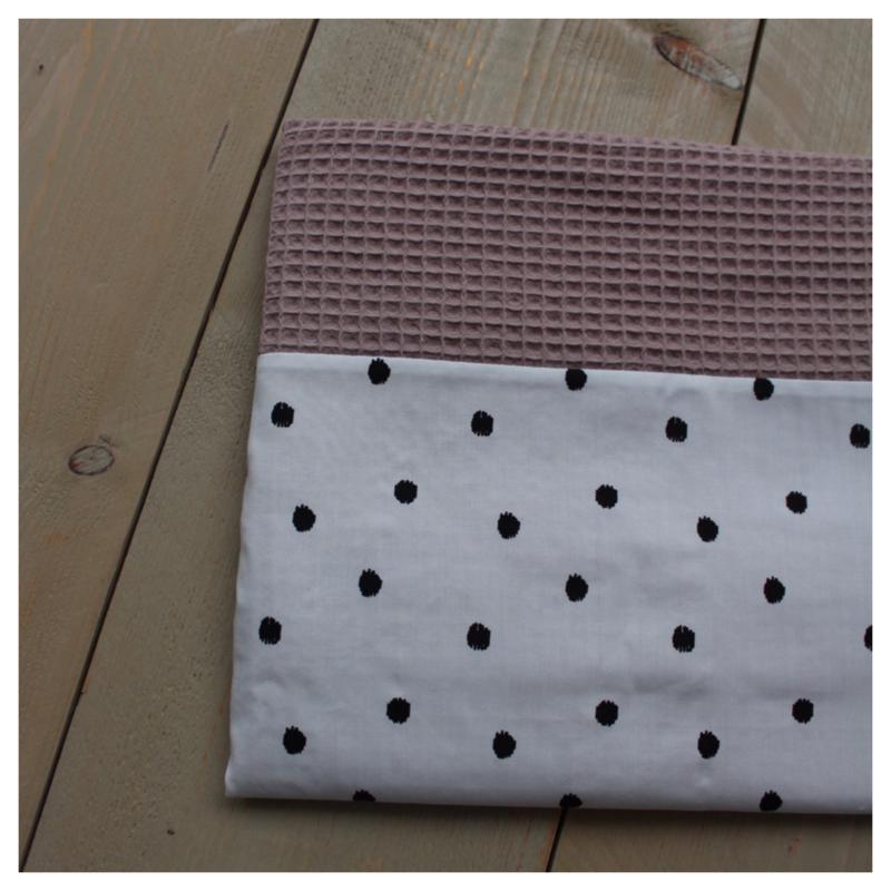 Lakentje - Poeder roze / Dots