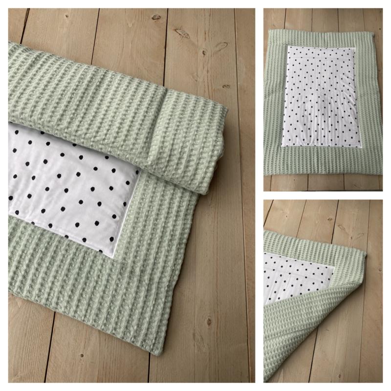 Boxkleed - Soft Poeder Groen / Dots