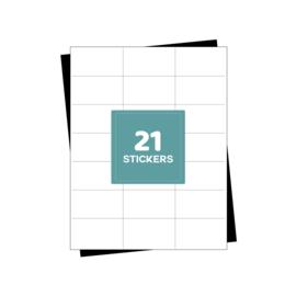 A4 verzendetiketten 21 per vel - 2100 etiketten (70mm x 42.3mm x 21/A4)
