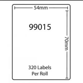 Dymo 99015 / S0722440 compatible adreslabel, 70 x 54mm, 320 labels per rol