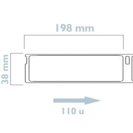Dymo 99018 / S0722470 compatible adreslabel, 190 x 38mm, 110 labels per rol