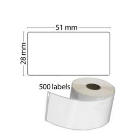 Dymo 11355 / S0722550 Compatible multifunctionele labels,  51 x 19mm, 500 labels per rol
