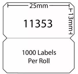 Dymo 11353 / S0722530 compatible multifunctionele labels, 25 x 13mm, 1000 labels per rol