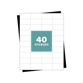 A4 verzendetiketten 40 per vel - 4000 etiketten  (52.5mm x 29.7mm x 40/A4)