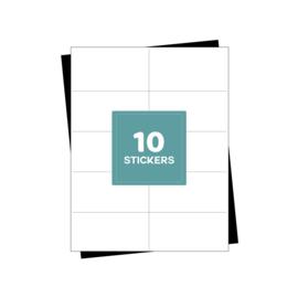 A4 verzendetiketten 10 per vel - 1000 etiketten (105mm x 57mm x 10/A4)