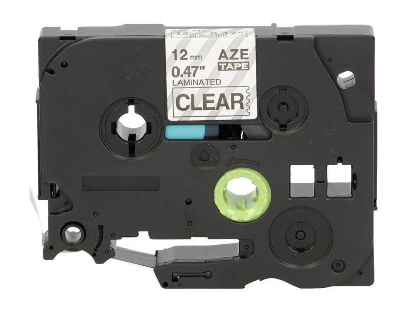 Brother P-Touch TZe-131 tape zwart op transparant (huismerk)