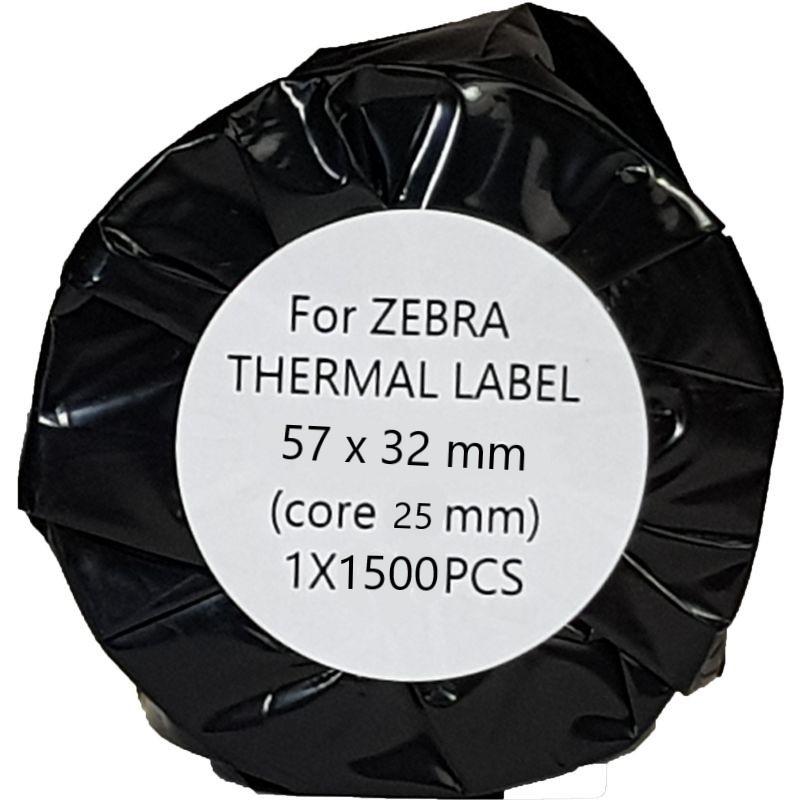 Zebra compatible thermische etiketten 57x32 mm wit
