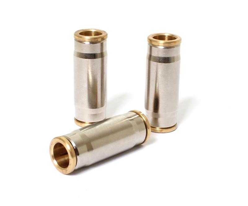 10 mm fitting Easy-Lock doorverbinder Messing vernikkeld