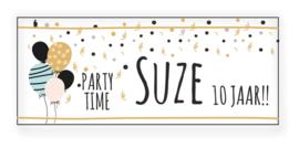 Verjaardags banner | Ballonnen en confetti