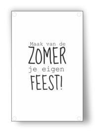 Tuin Poster | eigen feest|  50x70 cm
