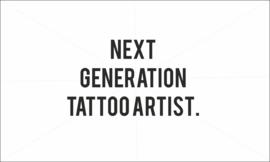 Next generation tattoo artist