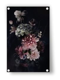 Tuin Poster | vintage bloemen|  50x70 cm
