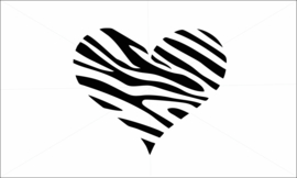 Zebra hartje