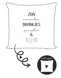 Buitenkussen | Zon vrienden drankjes