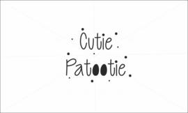 Cutie patootie strijkapplicatie