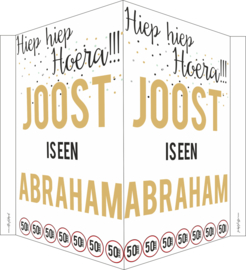 Raambord 50 jaar Abraham confetti