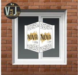 Raambord geboorte|  goud Nova