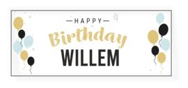 Verjaardags banner |  Ballonnen Happy Birthday