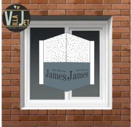 raamboord geboorte James