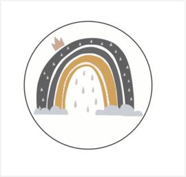 Sluitsticker | Cirkel met regenboog