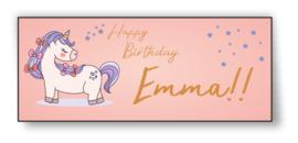 Verjaardags banner | Unicorn