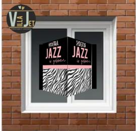 Raambord geboorte | Zebra print Jazz