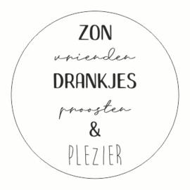 Muurdots |  buiten | zon vrienden drankjes