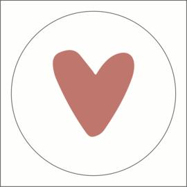 Muurdots |  buiten | vintage roze hart
