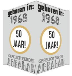Raambord 50 jaar Abraham geboortejaar