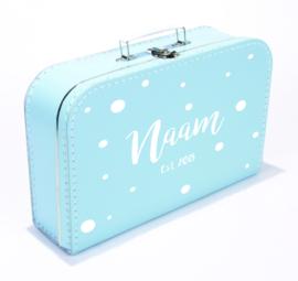 Kinderkoffertje bedrukt met naam en geboortejaar