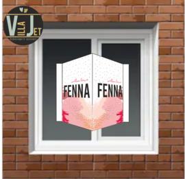 Raambord abstract roze Fenna
