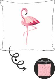 Buitenkussen Flamingo
