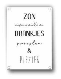Tuin Poster | zon vrienden drankjes|  50x70 cm